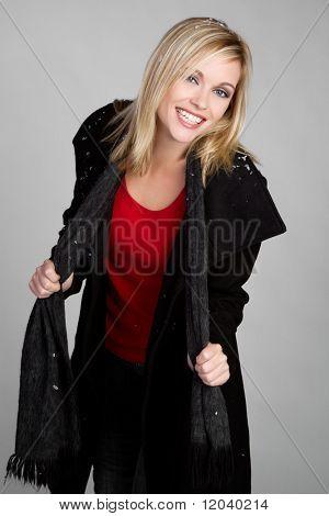 Woman Wearing Winter Jacket