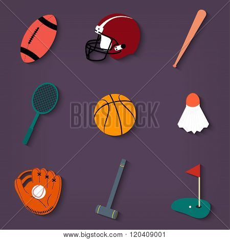 Sports Colored Icons Set