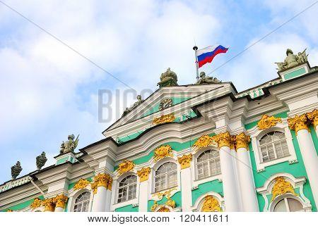 Winter Palace of Saint Petersburg. Hermitage. Landmark of Russia. poster