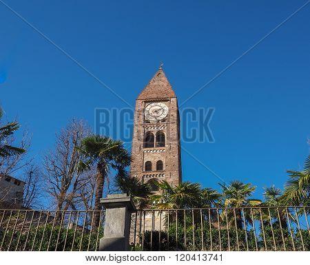 Santa Maria della Stella church steple in Rivoli Italy poster