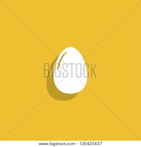 Egg Icon. Flat Design Style.