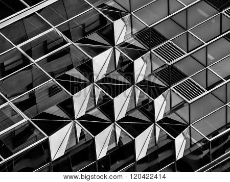 Geometry in architecture in black and white
