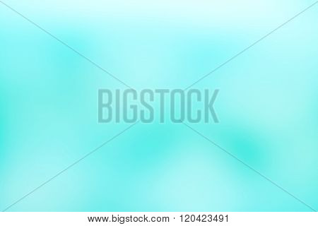 Soft Blue Aquamarine Tone Color Blur Abstract Background