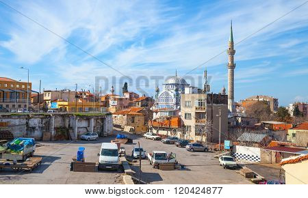 Street View With Fatih Camii Old Mosque