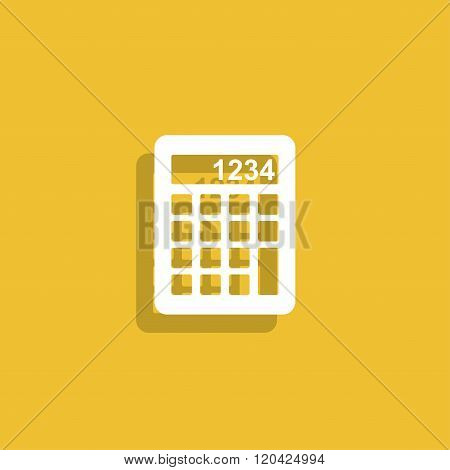 Calculator Icon. Flat Design Style.
