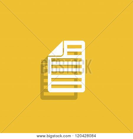 Document Icon Paper Sheet Vector.