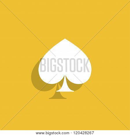 Poker Icon. Flat