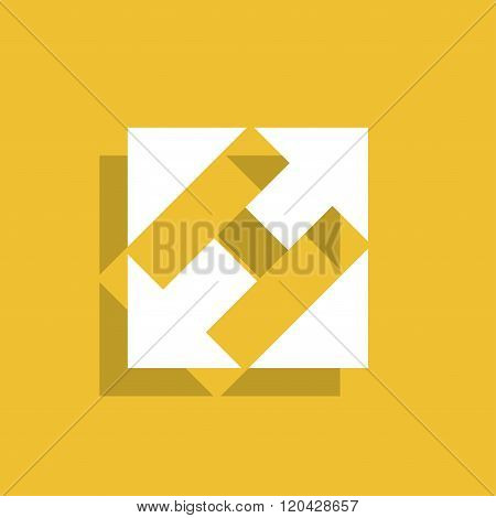 Rectangular, Square And Arrows Abstract Icon.