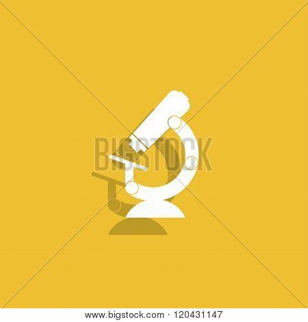 Microscope Icon. Flat