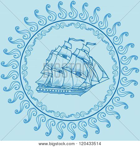 sailing ship illustration