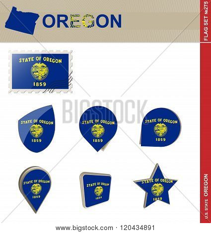 Oregon Flag Set, Flag Set