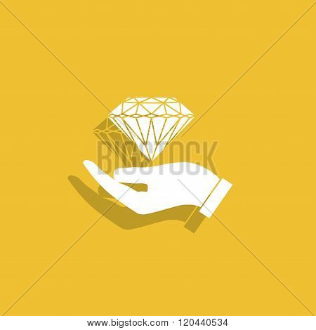 Hand And Diamond Icon