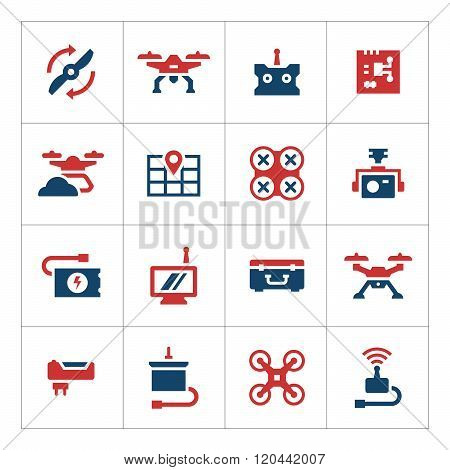 Set color icons of quadrocopter and drone