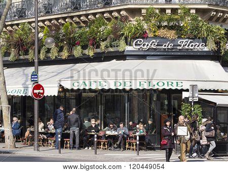 The Cafe De Flore, Paris, France.