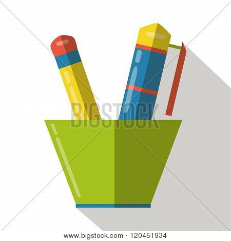 Writing tools icon vector flat isolated cartoon