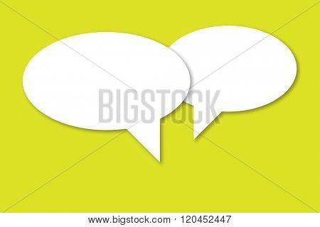 Two speech bubbles as a concept for dialog and communication