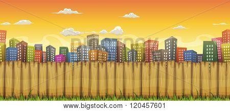 Seamless City Landscape Background