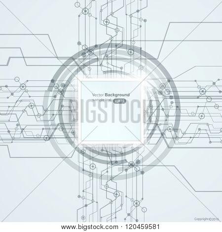 Modern high-tech business background vector design
