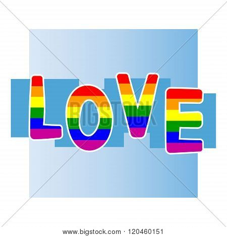 Stock vector background with  gay pride design elements