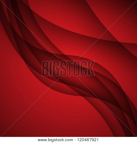 Red Modern Abstract Lines Swoosh Certificate - Speed Smooth Wave Border Background. Vector Illustrat