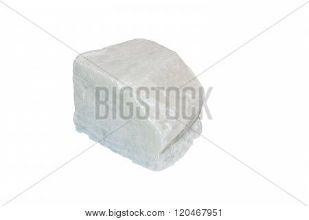 White sparkling talc mineral from Italy isolated