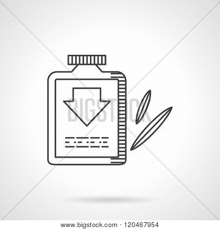 Laxative flat line design vector icon