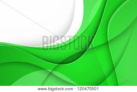 Abstract Background With Green Lines. Vector