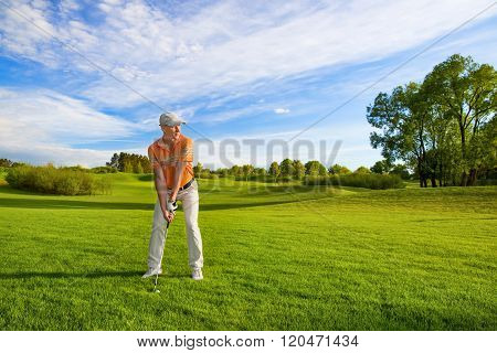 male golf player