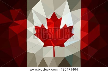 Canada low poly triangulate flag in EPS 8 format.