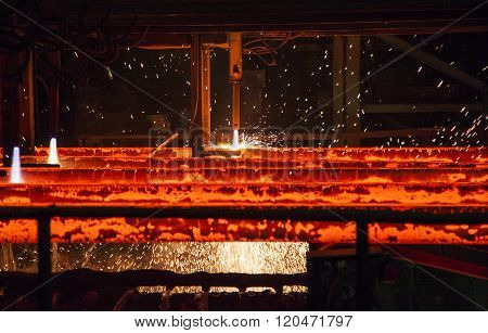 cutting torch in metallurgical plant