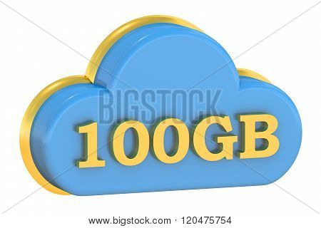 Computing Cloud 100 Gb Concept