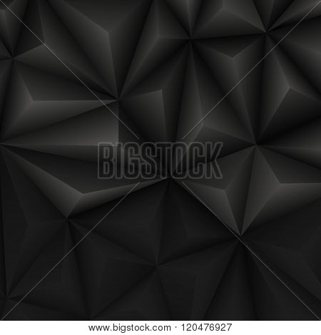 Abstract Geometrical Black Background. Vector Illustration