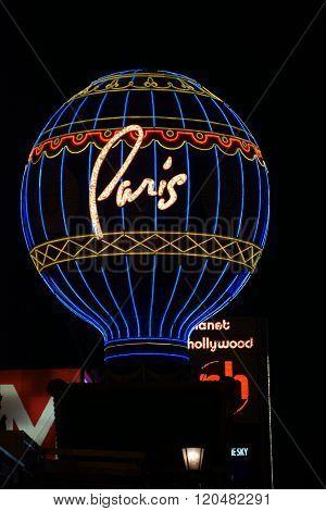 Montgolfier Balloon Paris Las Vegas