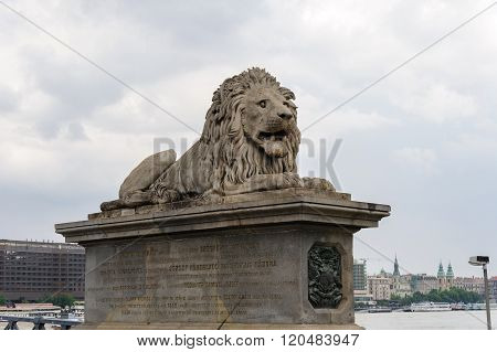 Lion Szechenyi Chain Bridge