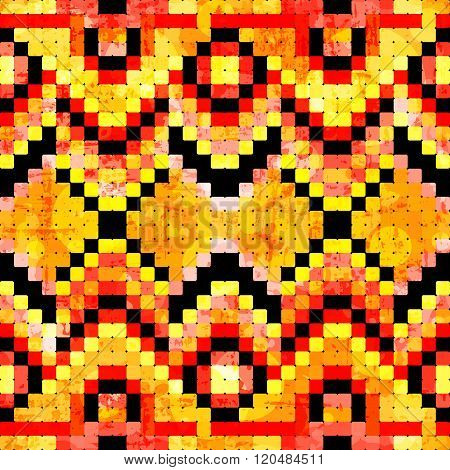 Small Pixels Colored Geometric Background Seamless Pattern Vector Illustration