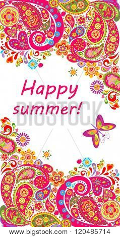 Decorative summery banner