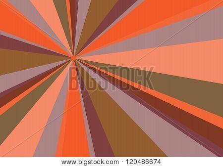 Rays Radius Background Orange