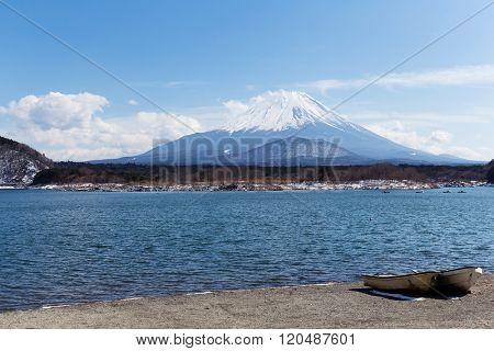 Lake Shoji with Fujisan