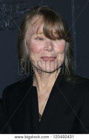 LOS ANGELES - MAR 1:  Sissy Spacek at the Knight of Cups Premiere at the The Theatre at The ACE Hotel on March 1, 2016 in Los Angeles, CA