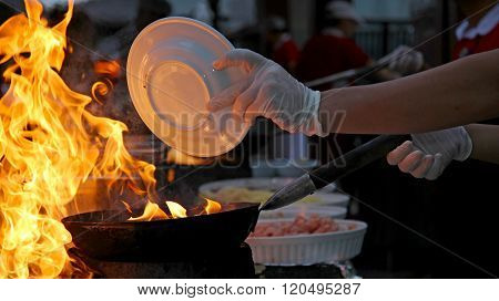 Chef At Work - Flambe Cooking