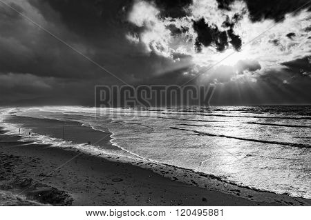 Black And White Photo Of Inch Beach