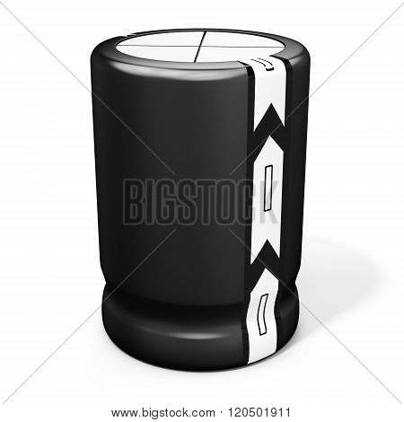 3D Detailed  Electrolytic Capacitor
