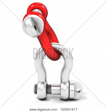 3D Pin Bow Shackles Connected