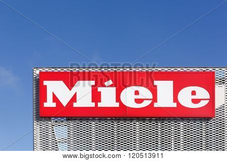 Miele logo on a facade