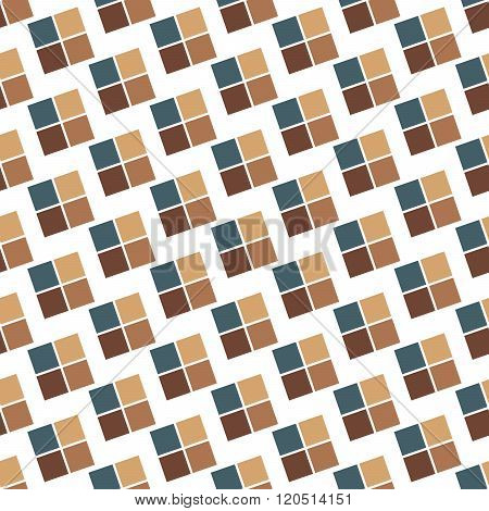 Seamless Colorful Abstract Pattern From Repetitive Concentric Squares