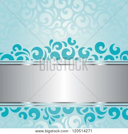 Retro green blue holiday vintage invitation background design