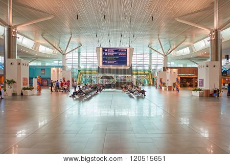 KUALA LUMPUR, MALAYSIA - MAY 06, 2014: interior of Kuala Lumpur International Airport, Malaysia's main international airport and one of the major airports of South East Asia