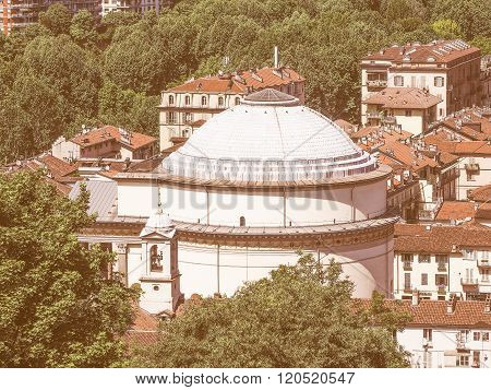 Gran Madre Church In Turin Vintage