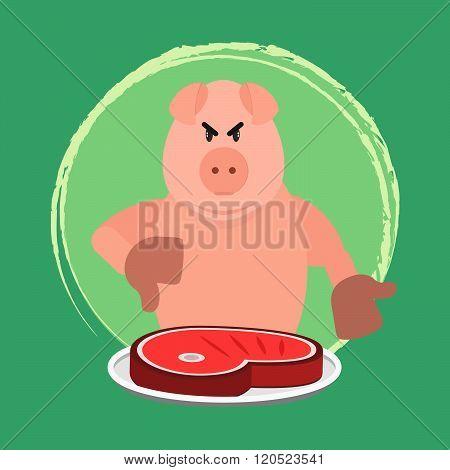 Angry Pig And No Pork