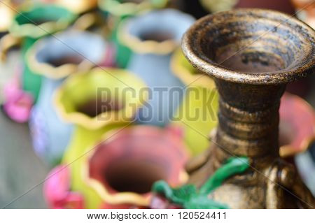 Ceramic handy crafts sold in the shops near Masaya, Nicaragua